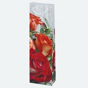 Torebki ozdobne T12 ogólne zestaw 46 12/40cm, op. 10szt (kwiaty-róże) (40)