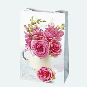 Torebki ozdobne T1 ogólne zestaw 16 10/16cm, opakowanie 10szt. (kwiaty) (k/100)