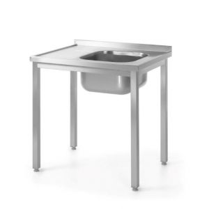 Table with one sink - right - screwed 1000 x 600