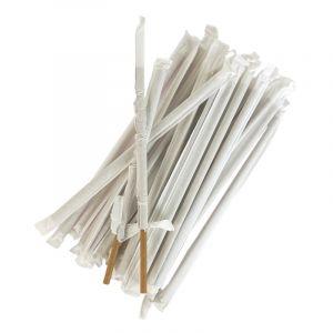 Słomki papierowe śr.6mm dł20cm kraft op.500szt (k/7) konf. w papierku TnG