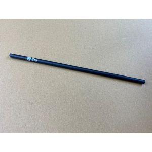 Słomki proste PLA 8mm / 250mm op.150szt czarne, biodegradowalne COBIO TnG nadruk BIO (k/14)
