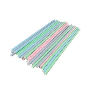 Paper straws, breakable, dia.6mm length 22cm PASTEL MIX, paper wrapped, TnG, 250 pieces (c/20)