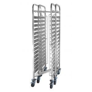 Wózek do transportu pojemników, kompaktowy - 15x GN 1/1 - kod 810606