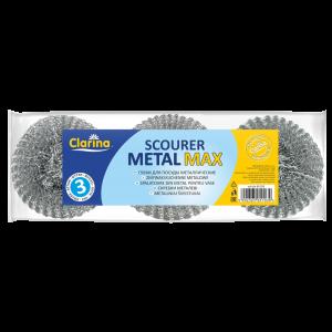 Zmywak-druciak gospodarczy metalowy CLARINA MAXI op.3szt