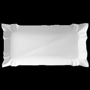 Tacka papierowa biała 14x25cm op.100szt.