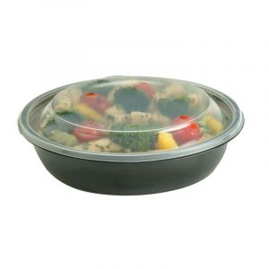 Miska do zupy czarna PP SABERT 1000ml, cena za opakowanie 50szt