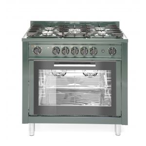 5-burner gas cooker with convection oven