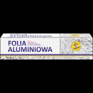Folia aluminiowa dla gastronomii 290mm 1kg - kartonik z nożykiem CLARINA