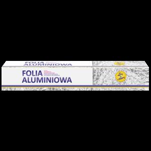 Folia aluminiowa dla gastronomii 440mm 1,5kg -kartonik z nożykiem CLARINA
