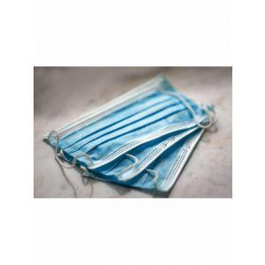 Maska ochronna na usta 3W op.50szt fizelinowa, kolor niebieski