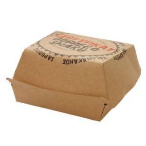 Hamburger duży (115x115x75mm) z nadrukiem CERTYFIKAT, cena za opakowanie 200szt