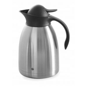 Steel coffee thermos with push button - 1,5 l