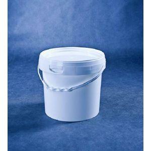 Wiaderko 5L białe 2B POKRYWKA op.20szt dwubrzeżowe, średnic 21cm wys. 21
