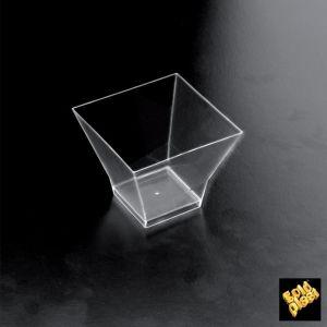 FINGERFOOD - kubek 90ml PS transparentny 6,2x6,2x5,5 op. 25 sztuk
