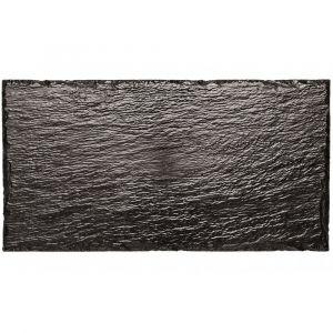 FINGERFOOD - taca 15,8x30 czarna PS imitacja kamienia op. 10 sztuk