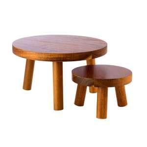 Stand bufetowy - drewno akacjowe śr. 150 x h.100 mm