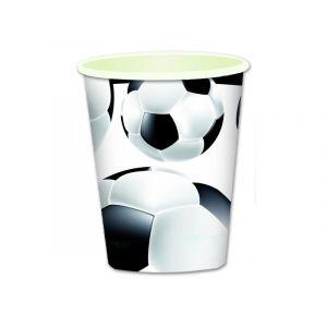 Kubki papierowe 260ml Piłka Nożna, cena za 1op.