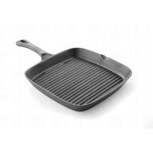 Cast iron skillet for grilling - 230X230X25 Mm