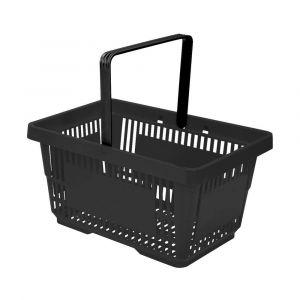 Koszyk plast. sklepowy 20l, 1-rączka, czarny