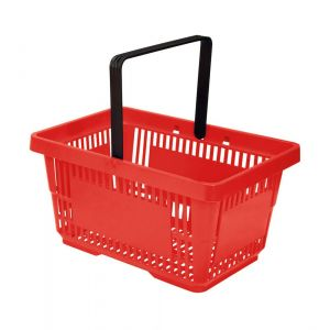 Koszyk plast. sklepowy 20l, 1-rączka, czerwony