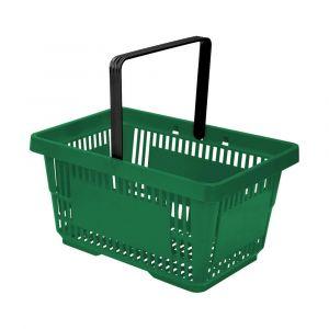 Koszyk plastikowy sklepowy 20l, 1-rączka, zielony
