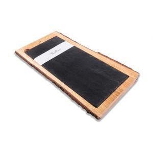 Fine Dine Wood&Slate tray 200x400mm - code WS2040M