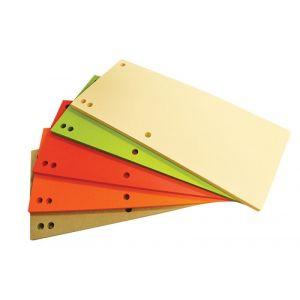 Przekładki OFFICE PRODUCTS, karton, 1/3 A4, 235x105mm, 100szt., mix kolorów