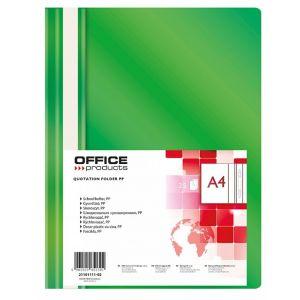 Skoroszyt OFFICE PRODUCTS, PP, A4, miękki, 100/170mikr., zielony