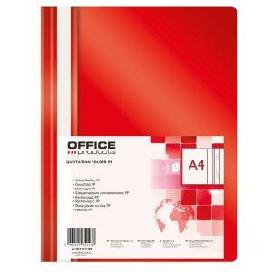 Skoroszyt OFFICE PRODUCTS, PP, A4, miękki, 100/170mikr., czerwony