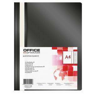 Skoroszyt OFFICE PRODUCTS, PP, A4, miękk i, 100/170mikr., czarny