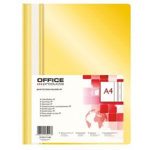 Skoroszyt OFFICE PRODUCTS, PP, A4, miękki, 100/170mikr., żółty