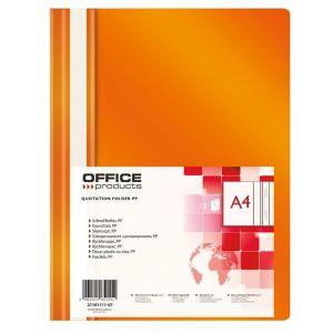 Skoroszyt OFFICE PRODUCTS, PP, A4, miękki, 100/170mikr., pomarańczowy