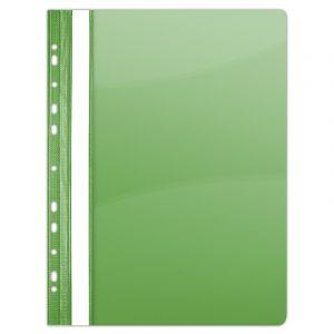 Skoroszyt DONAU, PVC, A4, twardy, 150/160mikr., wpinany, zielony