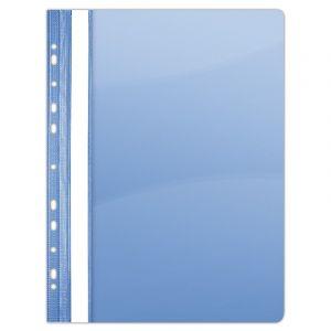 Skoroszyt DONAU, PVC, A4, twardy, 150/160mikr., wpinany, niebieski