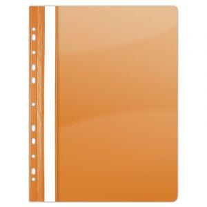 Skoroszyt DONAU, PVC, A4, twardy, 150/160mikr., wpinany, pomarańczowy