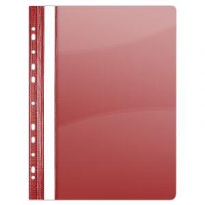 Skoroszyt DONAU, PVC, A4, twardy, 150/160mikr., wpinany, czerwony