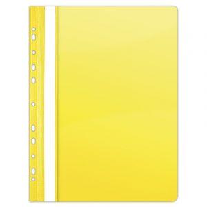 Skoroszyt DONAU, PVC, A4, twardy, 150/160mikr., wpinany, żółty