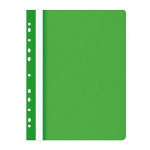 Skoroszyt OFFICE PRODUCTS, PP, A4, miękki, 100/170mikr., wpinany, zielony