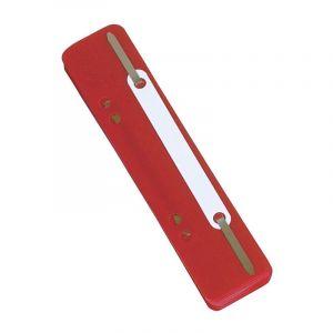 Wąsy skoroszytowe DONAU, PP, z metalową blaszką, 25szt., czerwone