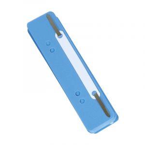 Wąsy skoroszytowe DONAU, PP, z metalową blaszką, 25szt., niebieskie
