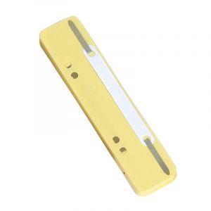 Wąsy skoroszytowe DONAU, PP, z metalową blaszką, 25szt., żółte