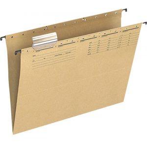 Teczka zawieszkowa Q-CONNECT, karton, A4, 250gsm, jasnobrązowa