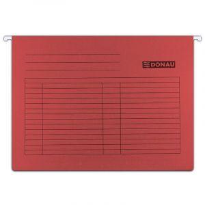 Teczka zawieszkowa DONAU, A4, 230gsm, czerwona