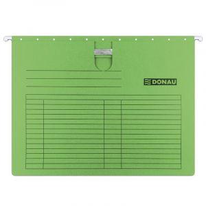 Teczka zawieszkowa DONAU z wąsem, A4, 230gsm, zielona