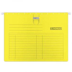 Teczka zawieszkowa DONAU z wąsem, A4, 230gsm, żółta