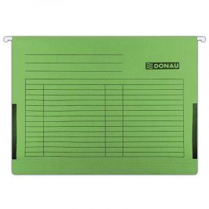 Teczka zawieszkowa DONAU z boczkami, A4, 230gsm, zielona