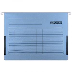 Teczka zawieszkowa DONAU z boczkami, A4, 230gsm, niebieska