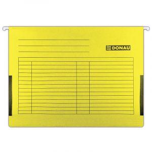 Teczka zawieszkowa DONAU z boczkami, A4, 230gsm, żółta