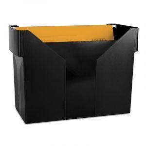 Mini archiwum DONAU z 5 teczkami, plastikowe, czarne