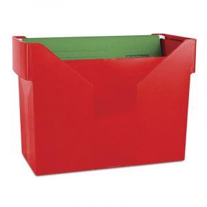 Mini archiwum DONAU z 5 teczkami, plastikowe, czerwone